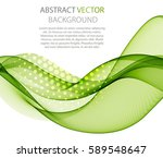 abstract green wave   Shutterstock .eps vector #589548647