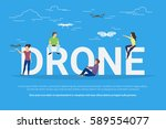 drone concept illustration of... | Shutterstock .eps vector #589554077