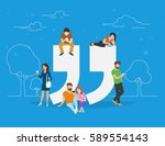 testimonials symbol concept... | Shutterstock .eps vector #589554143