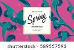 vector special sale banner.... | Shutterstock .eps vector #589557593