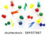 Set Of Colorful Color Push Pin...
