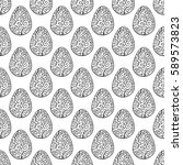 hand drawn ornamental eggs... | Shutterstock .eps vector #589573823