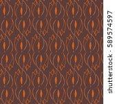 seamless vector vintage pattern ... | Shutterstock .eps vector #589574597