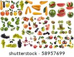 object on white   food cucumber ... | Shutterstock . vector #58957699