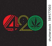 color text 420 with cannabis...