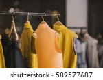 fashionable clothes in a... | Shutterstock . vector #589577687