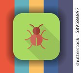 bug flat icon with long shadow  ...