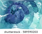 abstract multicolor mosaic... | Shutterstock .eps vector #589590203