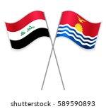 iraqi and i kiribati crossed...   Shutterstock .eps vector #589590893
