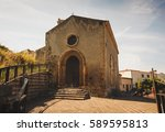 the san michele church in the... | Shutterstock . vector #589595813
