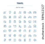vector graphic set. icons in...   Shutterstock .eps vector #589612127