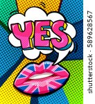 yes word bubble with british... | Shutterstock .eps vector #589628567