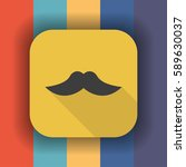 mustache flat icon with long... | Shutterstock .eps vector #589630037