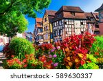 most beautiful colorful towns   ... | Shutterstock . vector #589630337