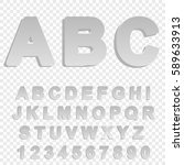 the alphabet in cut paper style ... | Shutterstock .eps vector #589633913