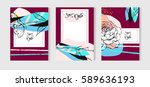 hand drawn vector abstract... | Shutterstock .eps vector #589636193