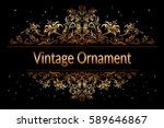 decorative golden frame with... | Shutterstock .eps vector #589646867