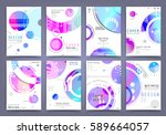 business brochure vector set | Shutterstock .eps vector #589664057