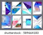 business brochure vector set | Shutterstock .eps vector #589664183