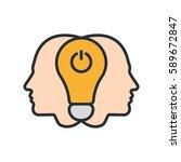 brainstorm creative collective... | Shutterstock .eps vector #589672847