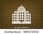 hotel 5 star icon vector... | Shutterstock .eps vector #589673543