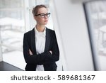 portrait of young business...   Shutterstock . vector #589681367