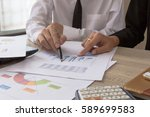 businessman meeting team... | Shutterstock . vector #589699583