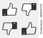 like icon. set of like and... | Shutterstock .eps vector #589699793