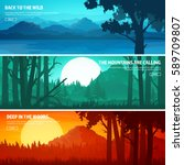 mountains and forest. wild... | Shutterstock .eps vector #589709807