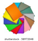 circle notebook collection on... | Shutterstock . vector #58972048