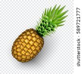 pineapple realistic image with... | Shutterstock .eps vector #589721777