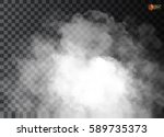 fog or smoke isolated... | Shutterstock .eps vector #589735373