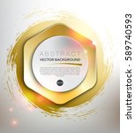 abstract vector background.... | Shutterstock .eps vector #589740593