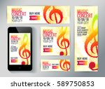 set of banners for promotion... | Shutterstock .eps vector #589750853