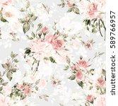 seamless watercolor pattern... | Shutterstock . vector #589766957