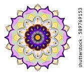 circular mandala ornament vector | Shutterstock .eps vector #589769153