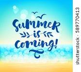 summer is coming  vector... | Shutterstock .eps vector #589770413