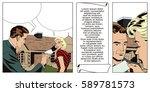 stock illustration. people in... | Shutterstock .eps vector #589781573