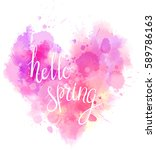 watercolor imitation heart... | Shutterstock .eps vector #589786163