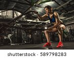 female athlete working out... | Shutterstock . vector #589798283