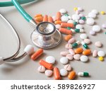 stethoscope and drug.concept of ... | Shutterstock . vector #589826927