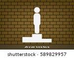 winners podium icon vector...   Shutterstock .eps vector #589829957