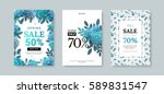 set of sale banner with paper... | Shutterstock .eps vector #589831547