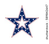 american star sign. blue and... | Shutterstock . vector #589842647