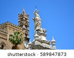 palermo majestic cathedral of... | Shutterstock . vector #589847873