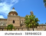 palermo majestic cathedral of... | Shutterstock . vector #589848023