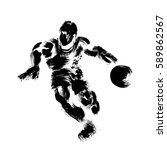 basketball player  made in a... | Shutterstock .eps vector #589862567