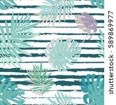 creative universal floral... | Shutterstock .eps vector #589869977