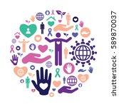vector illustration of charity... | Shutterstock .eps vector #589870037