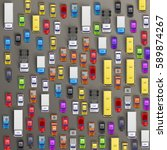 top view of cars of different... | Shutterstock .eps vector #589874267